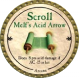 Scroll Melf's Acid Arrow
