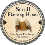 Scroll Flaming Hands