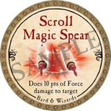 Scroll Magic Spear