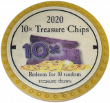 (OLD, Unusable) 10x Treasure Chips 2020