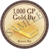 1,000 GP Gold Bar