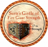 Surtr's Girdle of Fire Giant Strength