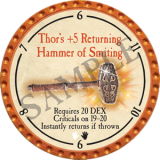 Thor's +5 Returning Hammer of Smiting